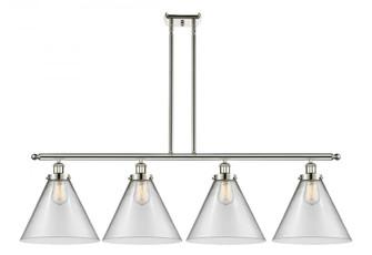 X-Large Cone 4 Light Island Light (3442|916-4I-PN-G42-L-LED)