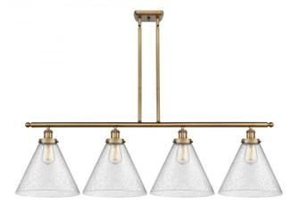 X-Large Cone 4 Light Island Light (3442|916-4I-BB-G44-L-LED)