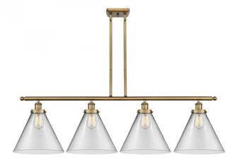 X-Large Cone 4 Light Island Light (3442|916-4I-BB-G42-L-LED)