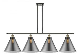 X-Large Cone 4 Light Island Light (3442|916-4I-BAB-G43-L-LED)