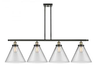 X-Large Cone 4 Light Island Light (3442|916-4I-BAB-G42-L-LED)