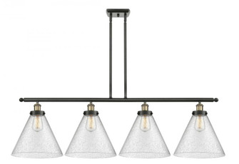 X-Large Cone 4 Light Island Light (3442|916-4I-BAB-G44-L-LED)