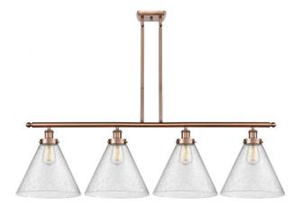 X-Large Cone 4 Light Island Light (3442|916-4I-AC-G44-L-LED)