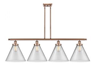 X-Large Cone 4 Light Island Light (3442|916-4I-AC-G42-L-LED)
