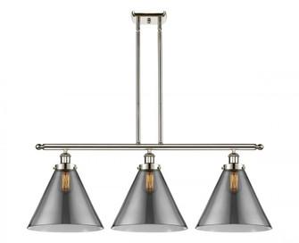 X-Large Cone 3 Light Island Light (3442|916-3I-PN-G43-L-LED)