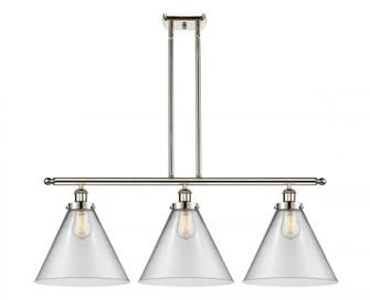 X-Large Cone 3 Light Island Light (3442|916-3I-PN-G42-L-LED)