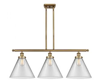 X-Large Cone 3 Light Island Light (3442|916-3I-BB-G42-L-LED)
