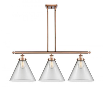 X-Large Cone 3 Light Island Light (3442|916-3I-AC-G42-L-LED)