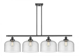 X-Large Bell 4 Light Island Light (3442|916-4I-BK-G74-L-LED)