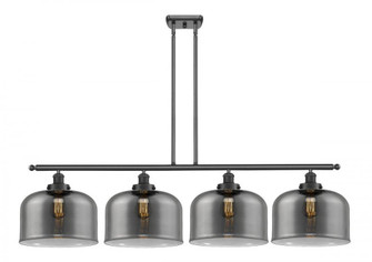 X-Large Bell 4 Light Island Light (3442|916-4I-BK-G73-L-LED)