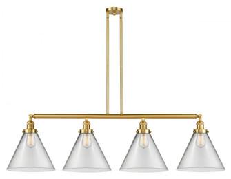 X-Large Cone 4 Light Island Light (3442|214-SG-G42-L-LED)