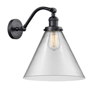 X-Large Cone 1 Light Sconce (3442|515-1W-BK-G42-L-LED)