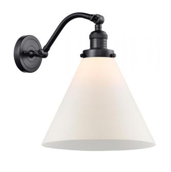 X-Large Cone 1 Light Sconce (3442|515-1W-BK-G41-L-LED)