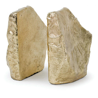 Rock Bookends (Soft Gold) (5533|20-1171)