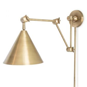 Zig-Zag Task Sconce (Natural Brass) (5533 15-1008NB)