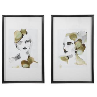 Uttermost Organic Portrait Framed Prints, S/2 (85 45097)