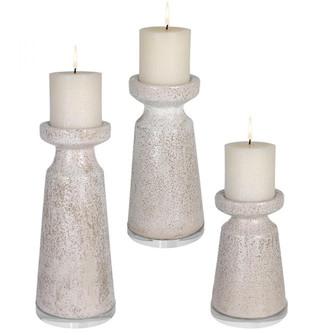 Uttermost Kyan Ceramic Candleholders, S/3 (85|17966)