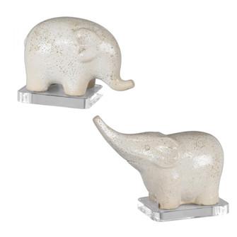 Uttermost Kyan Ceramic Elephant Sculptures, S/2 (85|17968)