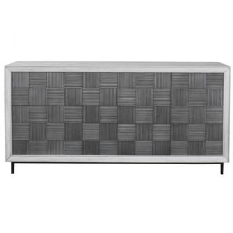 Uttermost Checkerboard 4 Door Gray Cabinet (85|25489)