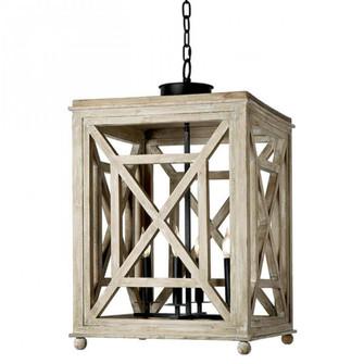 Wood Lattice Lantern (5533 16-1041)