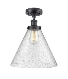X-Large Cone 1 Light Semi-Flush Mount (3442|916-1C-BK-G44-L-LED)