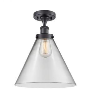 X-Large Cone 1 Light Semi-Flush Mount (3442|916-1C-BK-G42-L-LED)