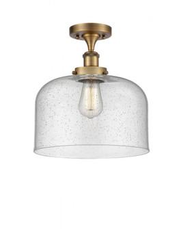 X-Large Bell 1 Light Semi-Flush Mount (3442|916-1C-BB-G74-L-LED)