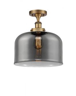 X-Large Bell 1 Light Semi-Flush Mount (3442|916-1C-BB-G73-L-LED)
