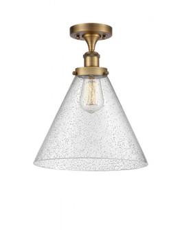 X-Large Cone 1 Light Semi-Flush Mount (3442|916-1C-BB-G44-L-LED)