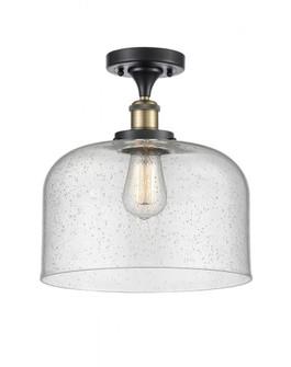 X-Large Bell 1 Light Semi-Flush Mount (3442|916-1C-BAB-G74-L-LED)