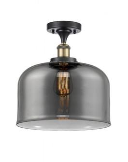 X-Large Bell 1 Light Semi-Flush Mount (3442|916-1C-BAB-G73-L-LED)