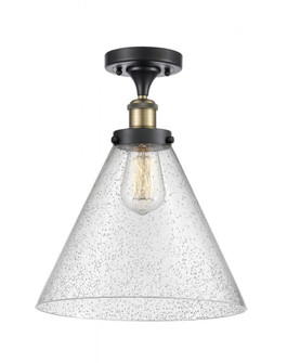 X-Large Cone 1 Light Semi-Flush Mount (3442|916-1C-BAB-G44-L-LED)
