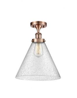 X-Large Cone 1 Light Semi-Flush Mount (3442|916-1C-AC-G44-L-LED)
