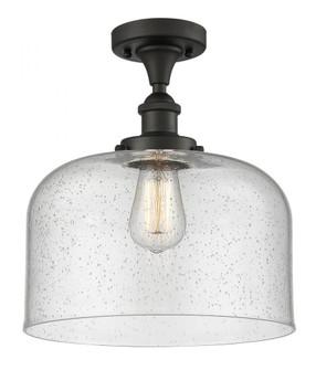 X-Large Bell 1 Light Semi-Flush Mount (3442|916-1C-OB-G74-L-LED)