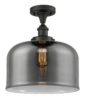 X-Large Bell 1 Light Semi-Flush Mount (3442|916-1C-OB-G73-L-LED)
