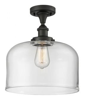 X-Large Bell 1 Light Semi-Flush Mount (3442|916-1C-OB-G72-L-LED)