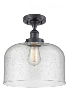 X-Large Bell 1 Light Semi-Flush Mount (3442|916-1C-BK-G74-L-LED)