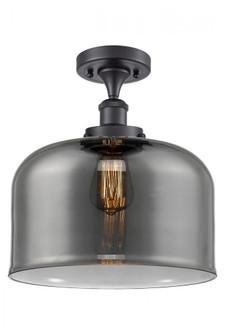 X-Large Bell 1 Light Semi-Flush Mount (3442|916-1C-BK-G73-L-LED)