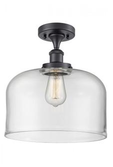 X-Large Bell 1 Light Semi-Flush Mount (3442|916-1C-BK-G72-L-LED)