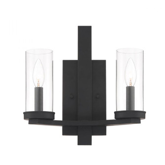 NERITO,2LT WALL SCONCE,BLK (4304|38223-013)
