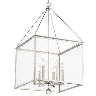Weston 6 Light Polished Nickel Lantern (205 WES-9908-PN)