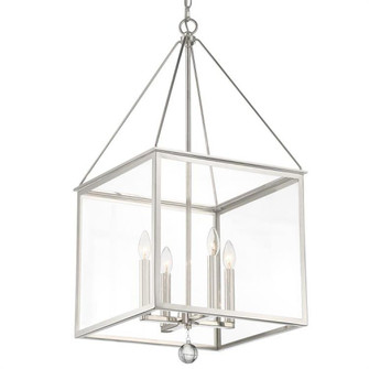 Weston 4 Light Polished Nickel Lantern (205 WES-9907-PN)