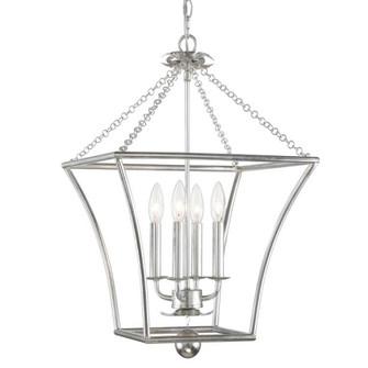 Broche 4 Light Antique Silver Lantern (205 516-SA)
