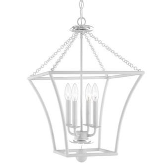 Broche 4 Light Matte White Lantern (205 516-MT)