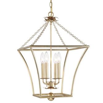 Broche 4 Light Antique Gold Lantern (205 516-GA)