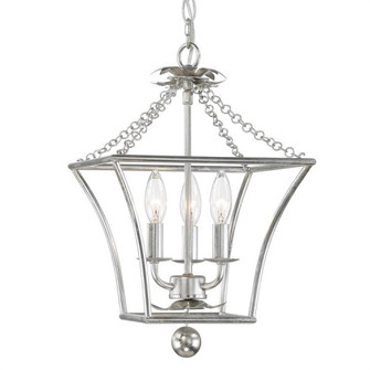 Broche 3 Light Antique Silver Lantern (205 514-SA)