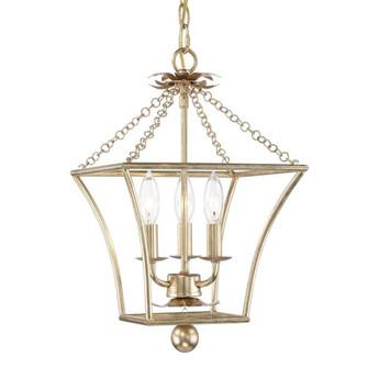 Broche 3 Light Antique Gold Lantern (205 514-GA)