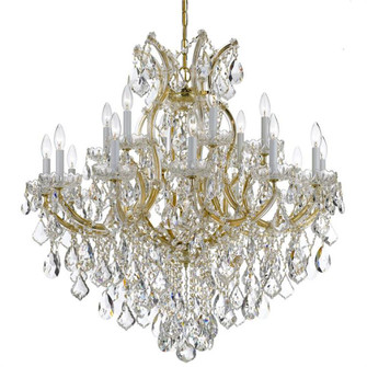 Maria Theresa 19 Light Clear Crystal Gold Chandelier (205 4418-GD-CL-I)