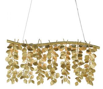 Golden Eucalyptus Rectangular Chandelier (92|9000-0781)