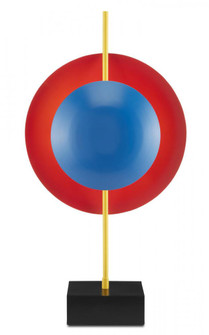 Mister M Red and Blue Disc Table Lamp (92 6000-0732)